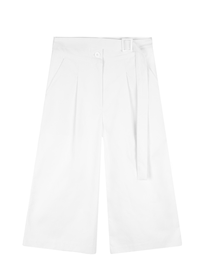 Don't stop wide-leg cotton culottes (white)