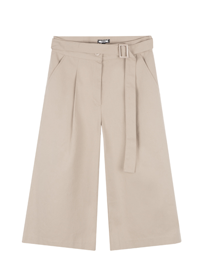 Don't stop wide-leg cotton culottes (beige)