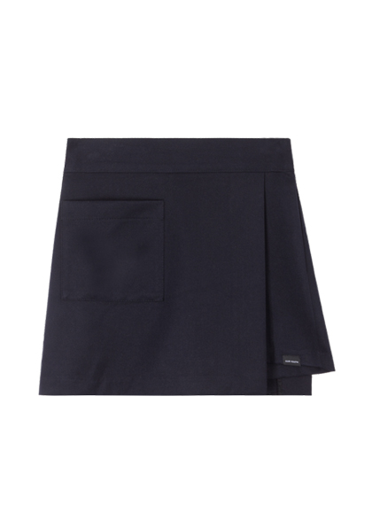 Pocket Wrap Skirt Pants (Navy)