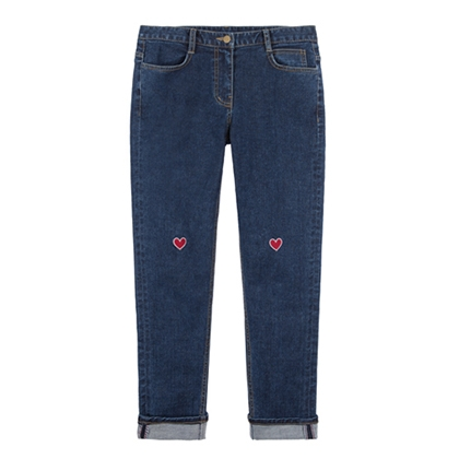 Heart Denim Pants