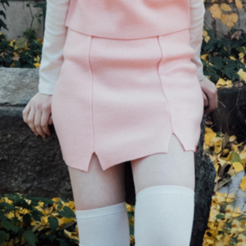 Heart Slit Skirt (Pink)