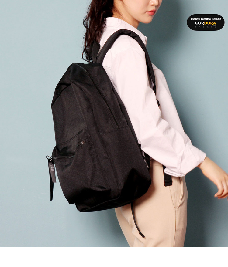 [착한가방] ALICE CORDURA DAY PACK (ALL BLACK)