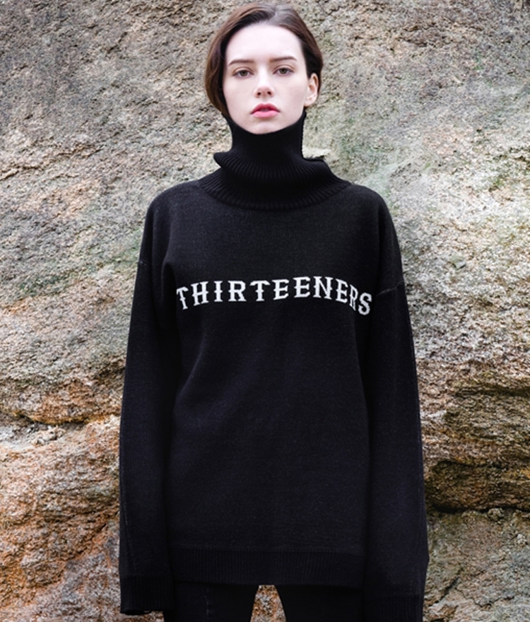 High Neck Point Knit