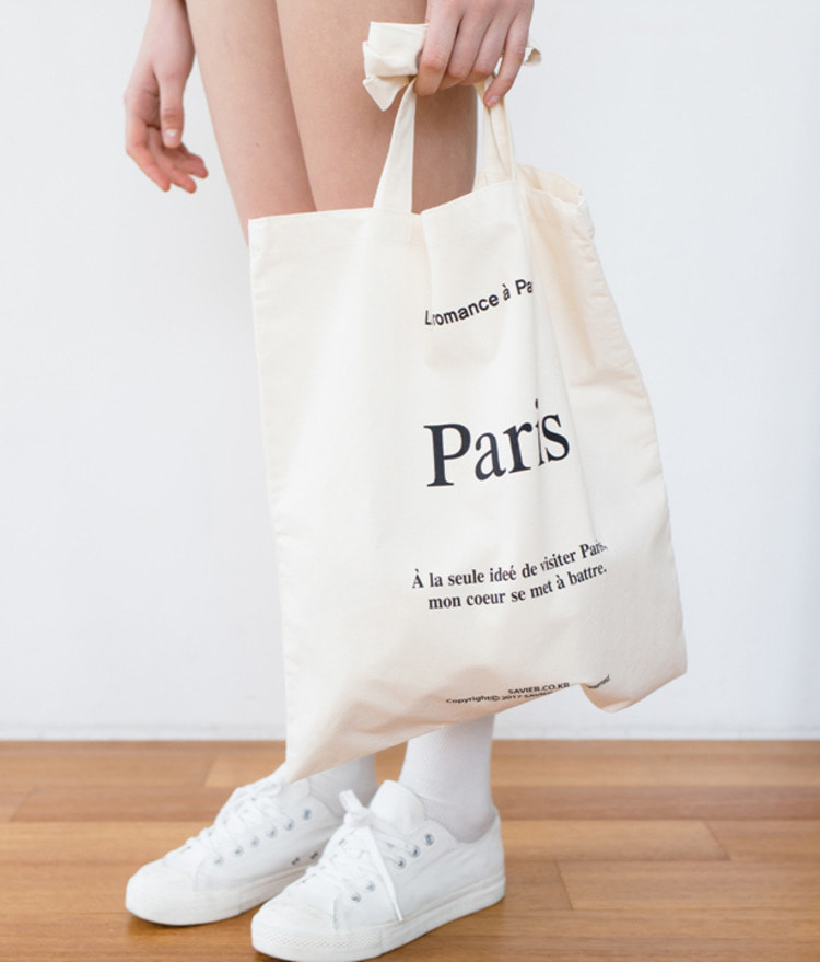 Paris Lettering Eco-bag