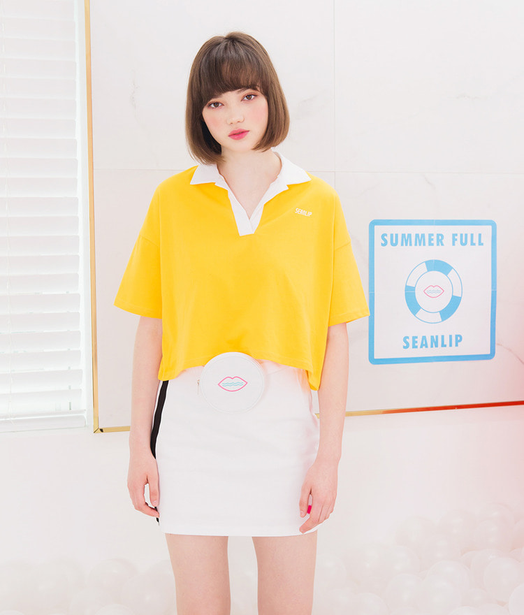 SEANLIP Shirt Collar Top