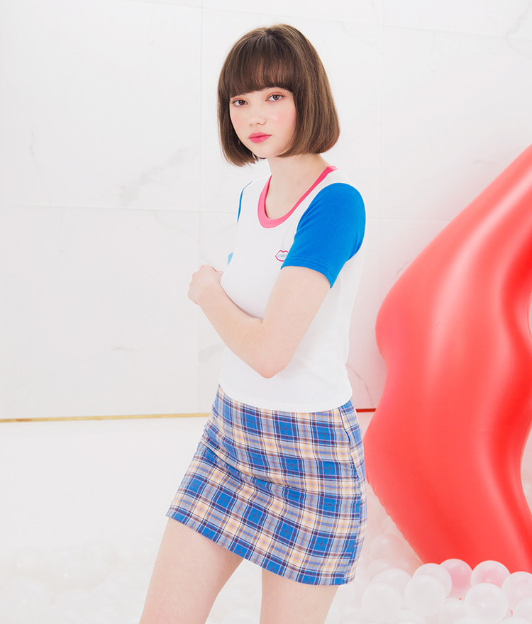 SEANLIP Check Skirt Pants