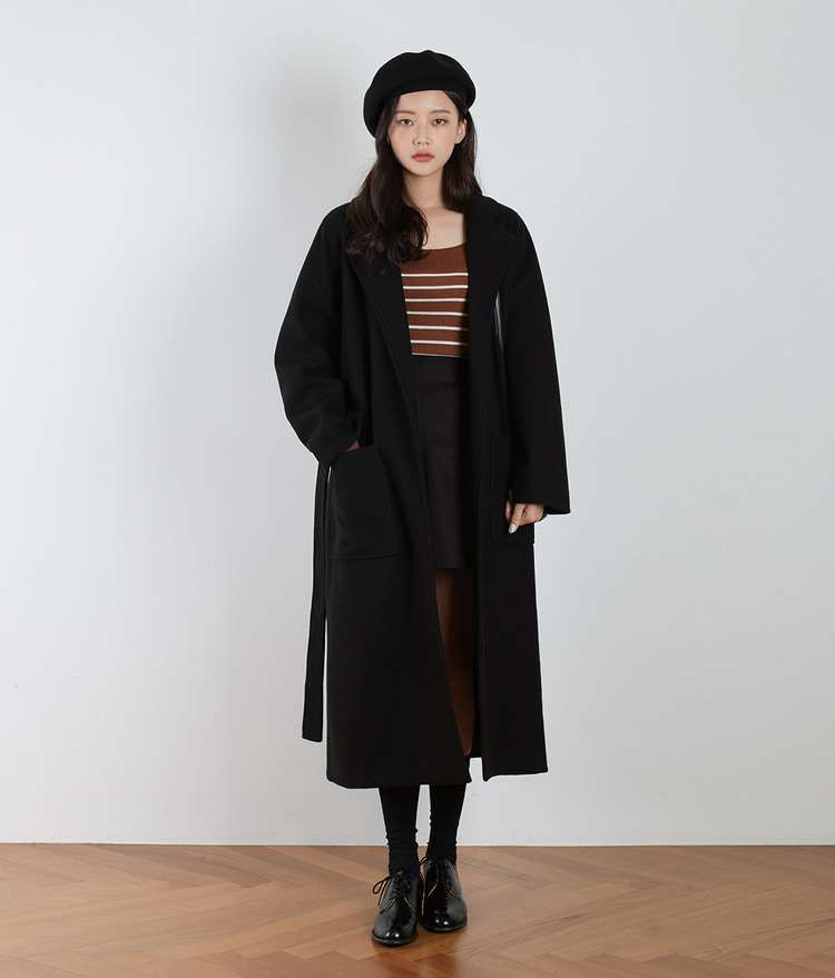 Jane Overfit Wool Coat (Wool 5%)