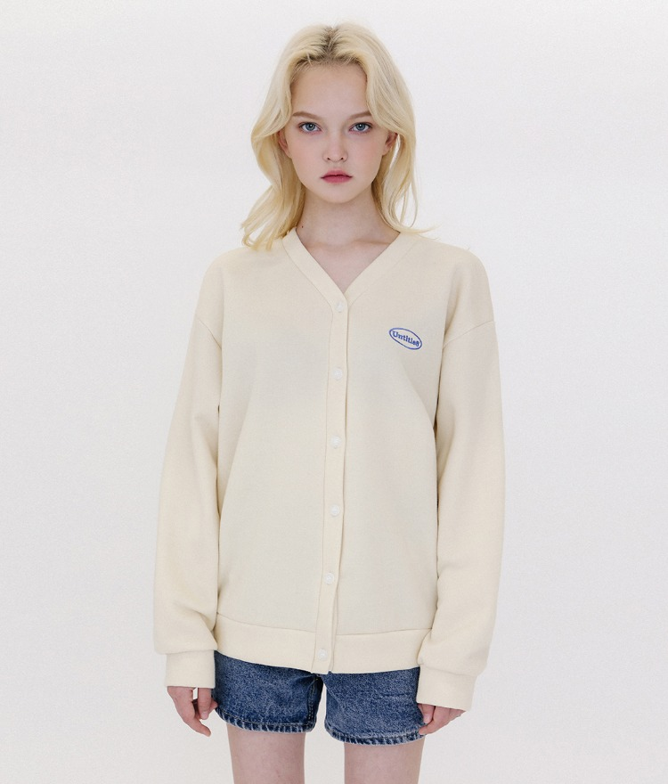Untitle8 Color Cardigan (기모) (Cream)