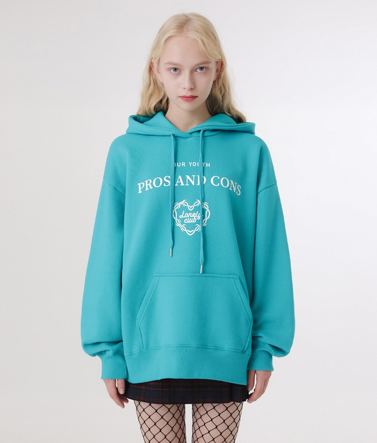 Lonely Layout Logo Hoodie (Blue Green)