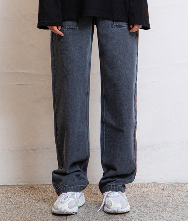 HIDE Out Pocket Denim Pants (Grey)