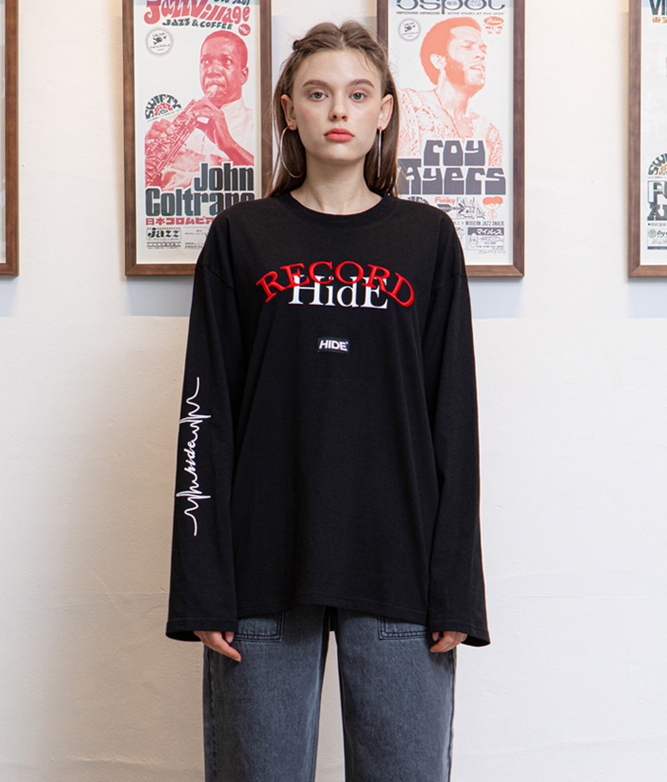 HIDE Overfit Record T-Shirt (Black)