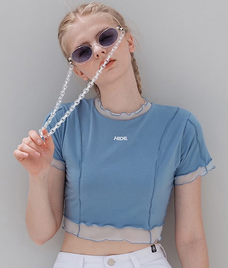 HIDE Lettuce Edge Top (Sky Blue)