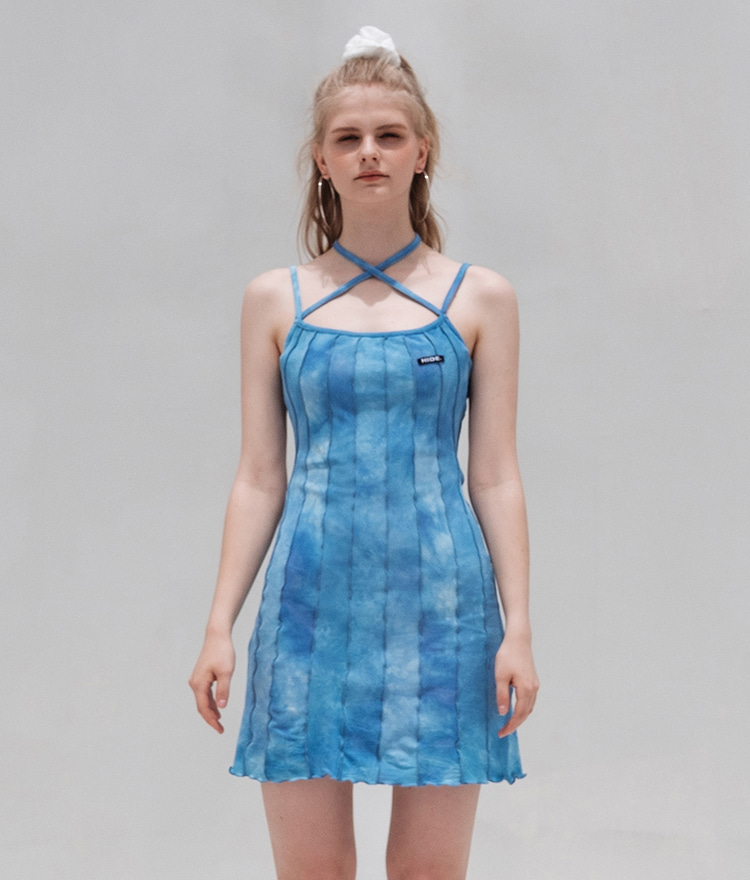 HIDE Lettuce Edge Dress (Sky Blue)