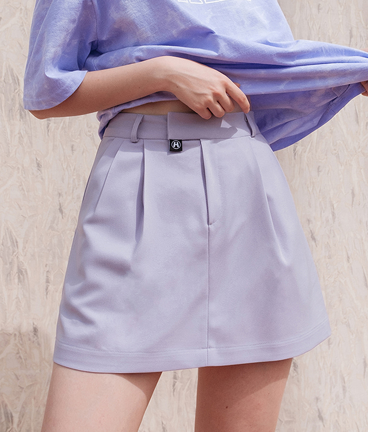 HIDE Pintuck Skirt (Light Purple)