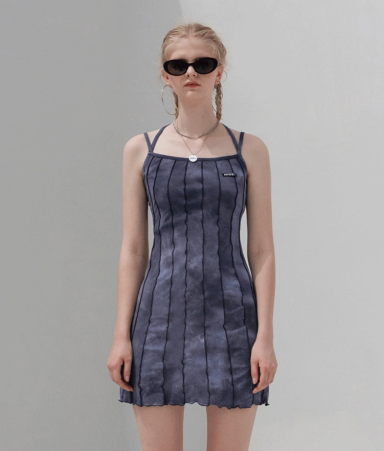 HIDE Lettuce Edge Dress (Deep Navy)
