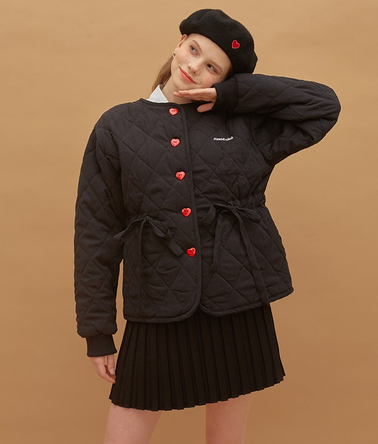 Heart Quilting Jacket (Black)