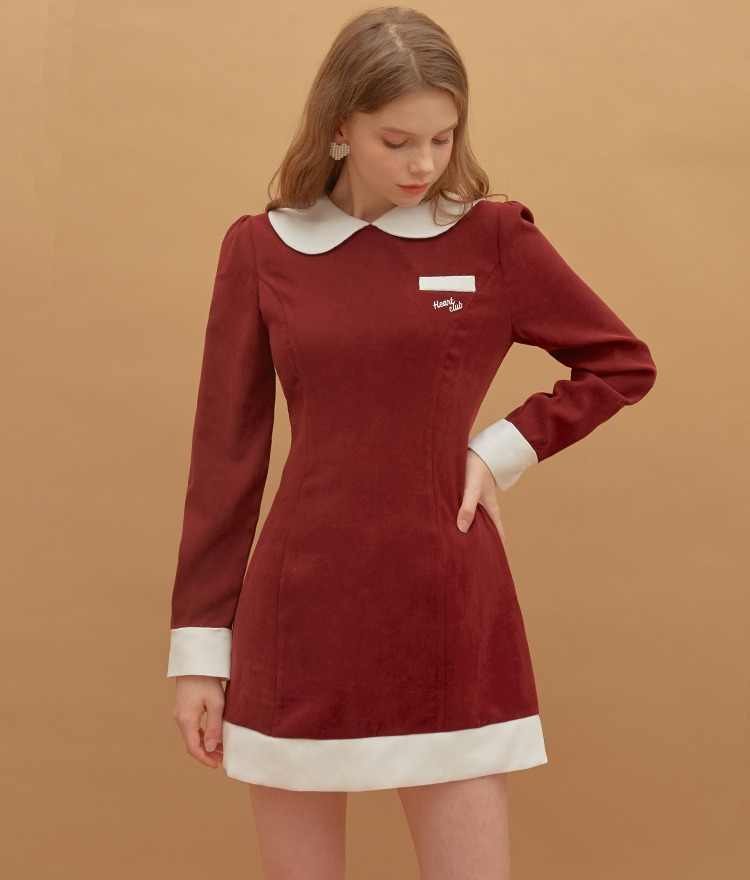 Heart Logo Mini Dress (Wine)