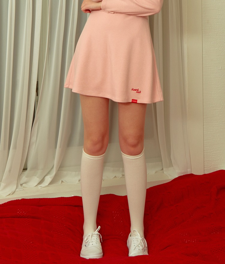 Heart Flare Band Skirt (Pink)