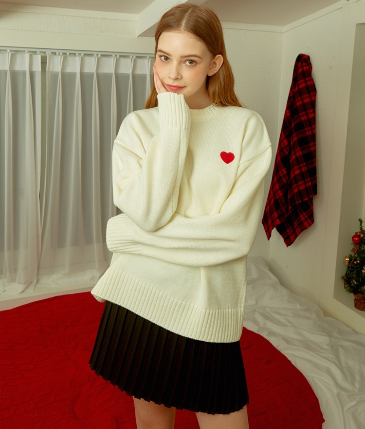 Heart Basic Knit (Ivory)