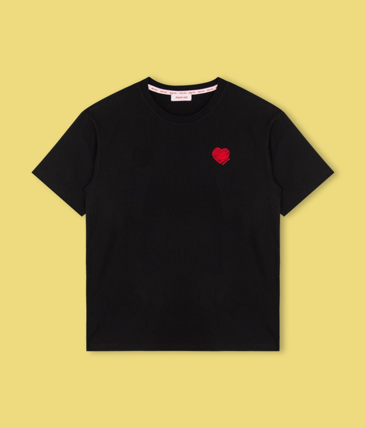 Heart Drawing T-shirt (Black)