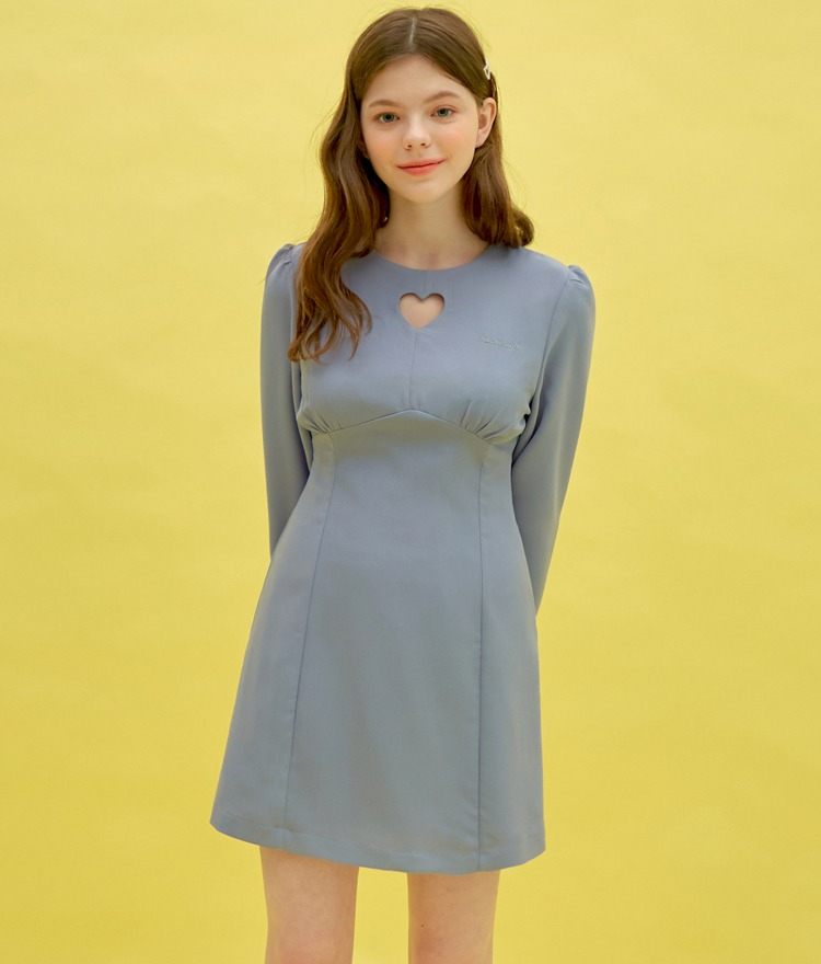 Heart Cut Out Dress (Sky Blue)