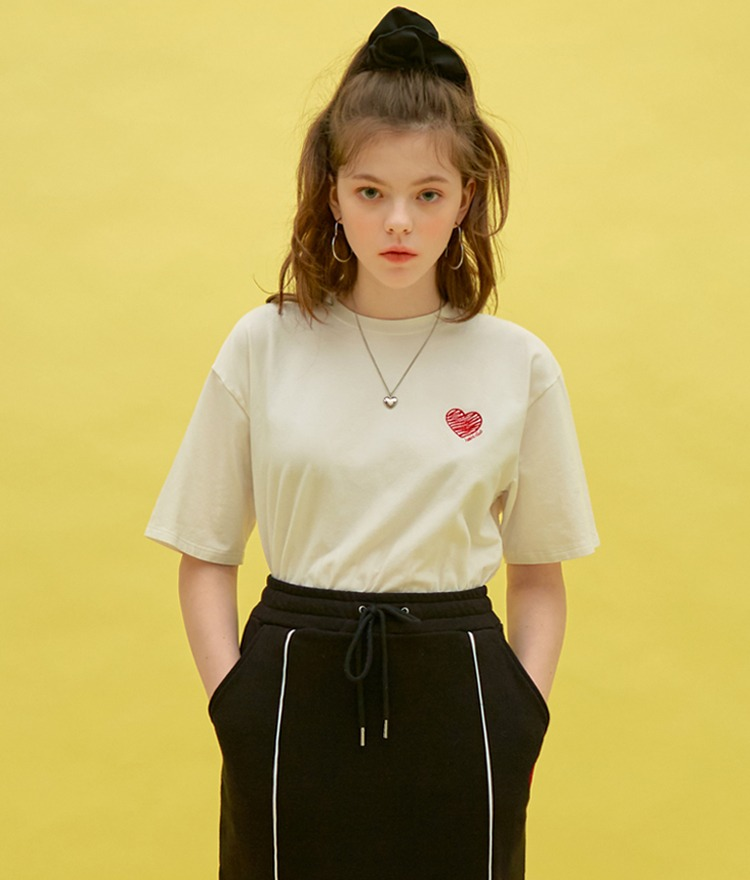 Heart Drawing T-shirt (White)
