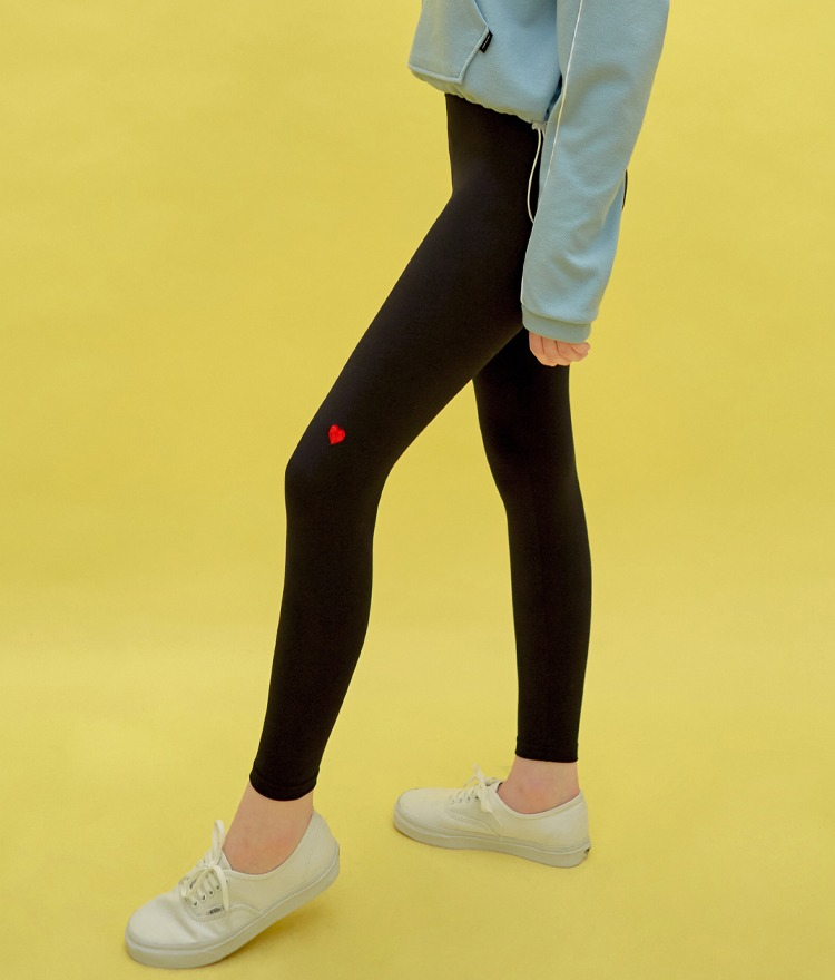 Heart Daily Leggings (Black)